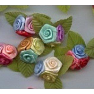 Embellishments / Verzierungen 10 Mini Trio roosjes