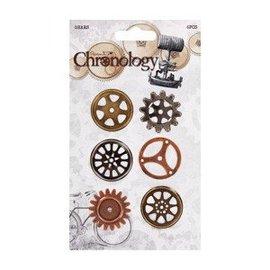 Embellishments / Verzierungen Räderchen, 6 stuks, chronologie
