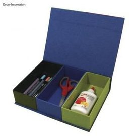 Objekten zum Dekorieren / objects for decorating Cartapesta, scatola con coperchio incernierato, 29,5 x22x6, 5 cm, 3 parti interne allentate
