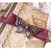 Objekten zum Dekorieren / objects for decorating 1 Vintage Ring Binder, 16,1x15,2cm