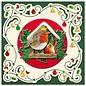 Pre-gedrukte afbeeldingen en reliëf stickers, voor 8 3D kerstkaarten