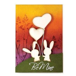 Penny Black Cutting en embossing stencils, Liefde van het konijntje