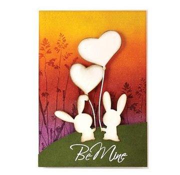 Penny Black Taglio e goffratura stencil, Bunny Love