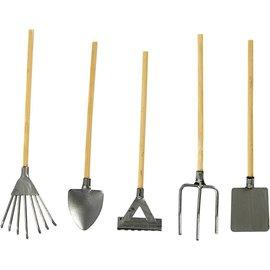 Embellishments / Verzierungen Mini garden tools, about 11 cm