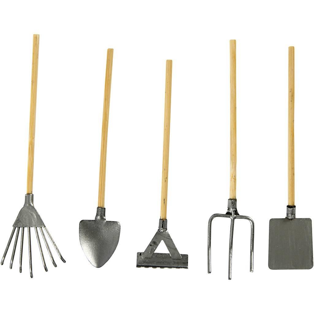 Embellishments / Verzierungen outils de jardin Mini, 11 cm