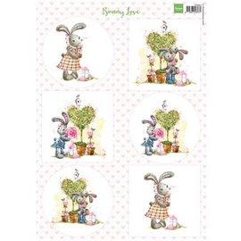 A4, Bilderbogen: Bunny Love - zurück vorrätig!