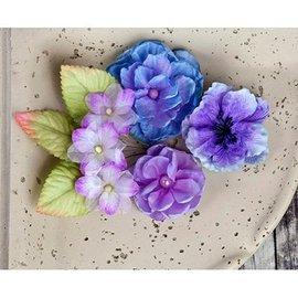 Prima Marketing und Petaloo Prima Flores, flores con hojas, 9 piezas