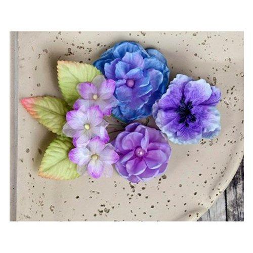 Prima Marketing und Petaloo Prima Flowers, Blumen mit Blätter, 9 Stück