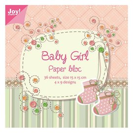 Joy!Crafts / Jeanine´s Art, Hobby Solutions Dies /  Paper block, 15x15cm, Baby Girl