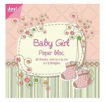 Joy!Crafts / Jeanine´s Art, Hobby Solutions Dies /  Blocco di carta, 15x15cm, Baby Girl