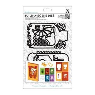Docrafts / X-Cut El corte y plantilla de estampado para una tarjeta de la caja de sombra