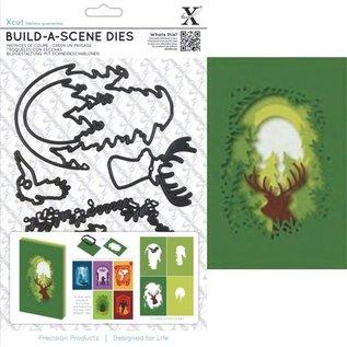 Docrafts / X-Cut Snij- en embossing stencil voor een schaduw box kaart, rendieren