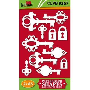 Embellishments / Verzierungen Spaanplaat, sleutels en sloten