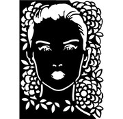 Dutch DooBaDoo Mask Stencil Face, designs, 297 x 210mm