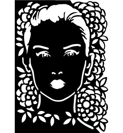 Masque Visage Stencil Dessins 297 X 210mm