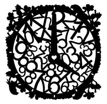 Dutch DooBaDoo Masque Stencil Horloge, dessins, 300 x 300 mm