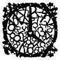 Dutch DooBaDoo Mask Stencil Clock, Designs, 300 x 300mm