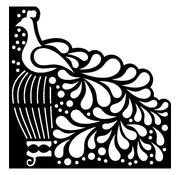 Dutch DooBaDoo Mask Stencil Bird, design, 15 x 15cm
