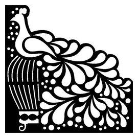 Dutch DooBaDoo Maschera Stencil Uccello, disegni, 15 x 15 centimetri