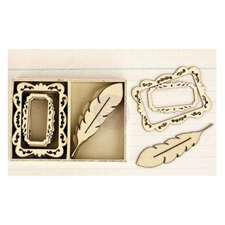 Objekten zum Dekorieren / objects for decorating Wood Icons - Delight - hout ornamenten
