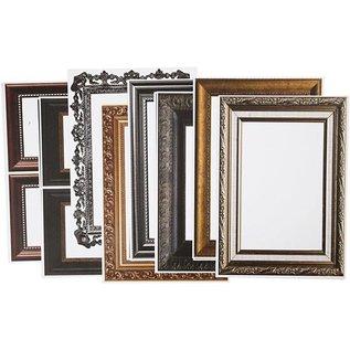 KARTEN und Zubehör / Cards 16 framebogen! Vel 26,2x18,5 cm, in metallic kleuren