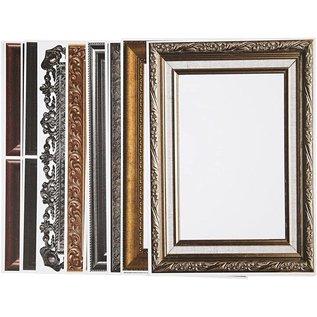 KARTEN und Zubehör / Cards NEU! 16 Rahmen Bögen! Blatt 26,2x18,5 cm, in metallic-farben