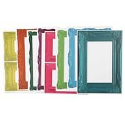 KARTEN und Zubehör / Cards Frame, sheet 26,2 x18, 5 cm, bold colors, 16 sort. Sheet