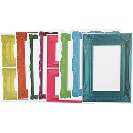 KARTEN und Zubehör / Cards Frame, hoja 26,2 x18, 5 cm, colores llamativos, 16 de clasificación. Hoja