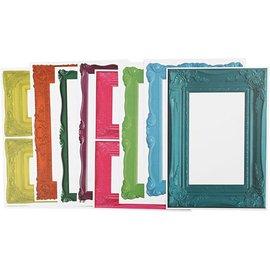KARTEN und Zubehör / Cards Frame, ark 26,2 x18, 5 cm, dristige farver, 16 slags. Sheet