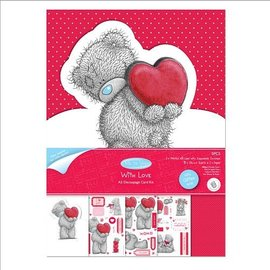 Me to You Craft Kit, A5, glitter kart ontwerp, Me to you (I love you)