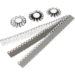 Komplett Sets / Kits Craft Kit: material set for 6 pcs rosettes, D: 8 cm, 160 g - Copy
