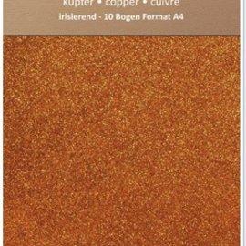 Karten und Scrapbooking Papier, Papier blöcke Papel iridiscente brillo, formato A4, 150 g, el cobre