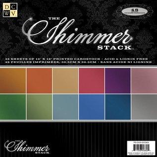 DCWV und Sugar Plum DCWV Designer Block, Shimmer Cardstock Papier Stack