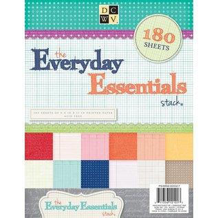 DCWV und Sugar Plum 180 bladen! DCWV, Everyday Essentials papierstapel