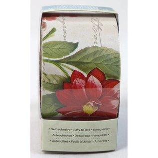 DCWV und Sugar Plum Thuis Craft Trim 2 - Vintage Wallpaper Roses - Tan / Rood / Gree