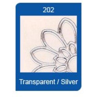 STICKER / AUTOCOLLANT Stervorm Transparante Stickers, 10 x 23cm, borduurwerk, in zilver of goud