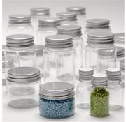 BASTELZUBEHÖR, WERKZEUG UND AUFBEWAHRUNG Plastic skål med låg i 4 forskellige størrelser