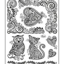 VIVA DEKOR (MY PAPERWORLD) timbre transparent, 14 x18 cm