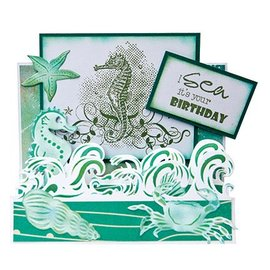 Joy!Crafts / Jeanine´s Art, Hobby Solutions Dies /  Ponsen - en embossing folder: Borduur met golven