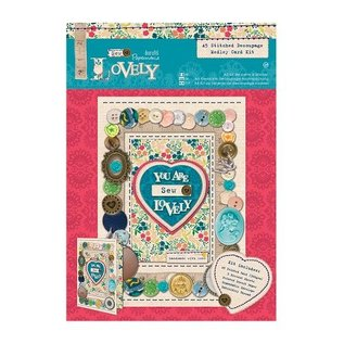 Docrafts / Papermania / Urban Naaien: A5 Decoupage Card Kit Medley-Sew Lovely