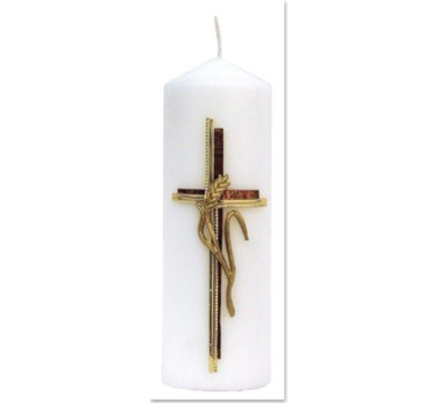 Bastelset: Kerze, Kreuz mit Ähre