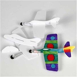 Kinder Bastelsets / Kids Craft Kits 3 vliegtuigen te monteren en te schilderen!