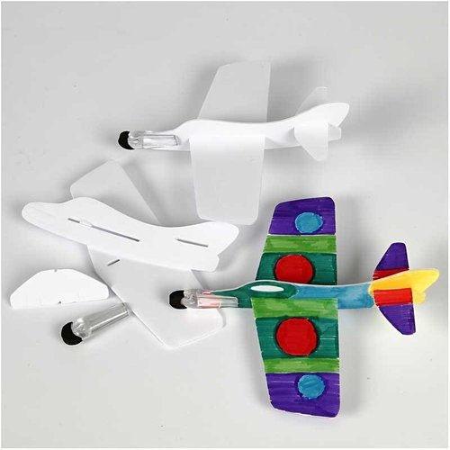 Kinder Bastelsets / Kids Craft Kits 3 aircraft to mount and paint!