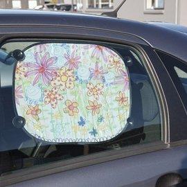 Kinder Bastelsets / Kids Craft Kits 2 Sonnenblende für das Auto - mit Stoffmalstift leicht zu bemalen, zu dekorieren
