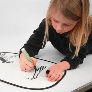 Kinder Bastelsets / Kids Craft Kits Per decorare facile dipingere con Stoffmalstift, - 2 parasole per l'auto