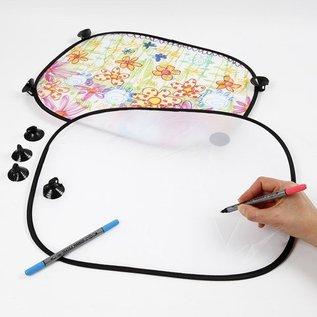 BASTELZUBEHÖR, WERKZEUG UND AUFBEWAHRUNG 2 sun visor for the car - easy to paint with Stoffmalstift to decorate, - Copy