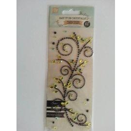 """Embellishments / Verzierungen Gemstone Stickers, """"ornamenten"""", zwart"""