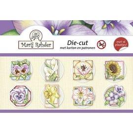 "Libro de manualidades para diseño de tarjeta ""flores"""