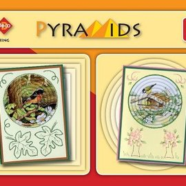 Bücher, Zeitschriften und CD / Magazines 3D boekje Pyramids 4, med Stitch