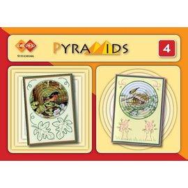 Bücher, Zeitschriften und CD / Magazines 3D boekje Pyramids 4, mit Stickvorlagen